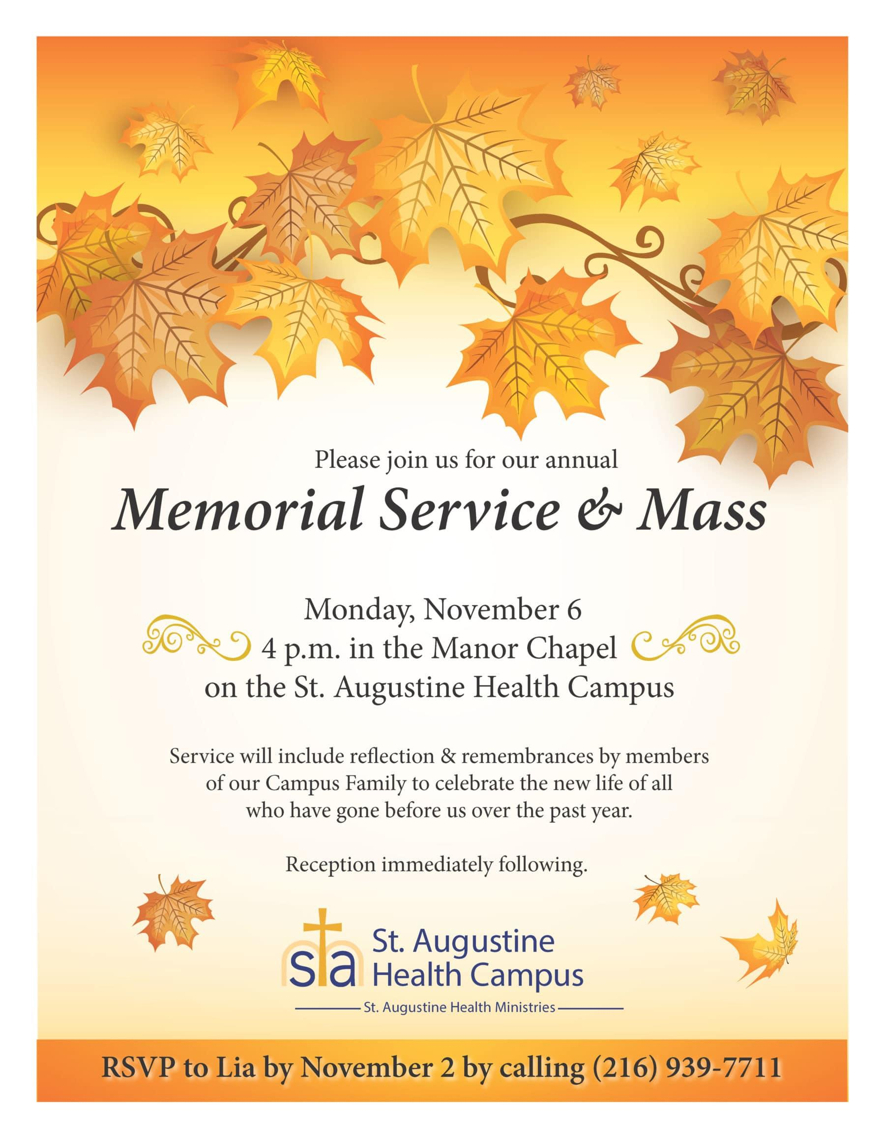 memorial invitation st augustine health ministries