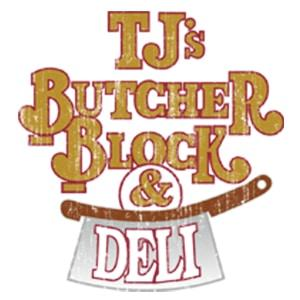 tj butcher shop logo